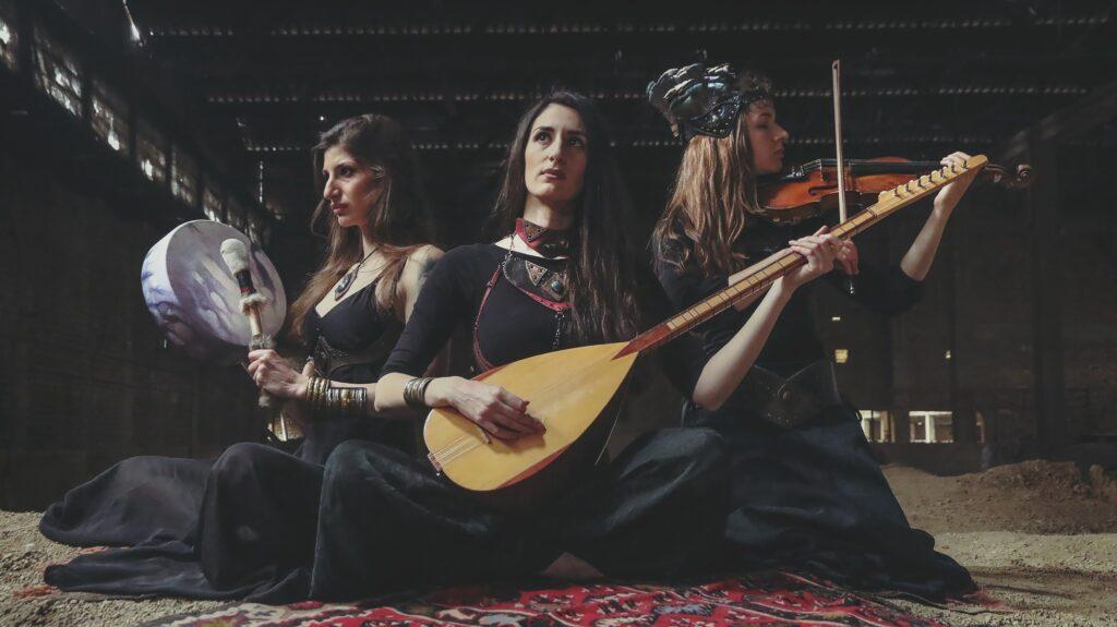 Aleksandra, Ivana and Ana with instruments